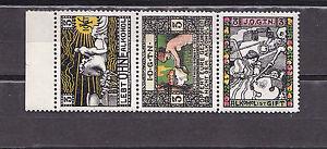 austria strip of three labels.MNH j627