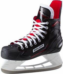 Bauer-Herren-Schlittschuhe-Eishockey-Schlittschuhe-X-Pro-Skate-SR-schwarz-rot