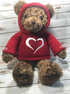 dee65b63e2a Gund Millenium Bear Brown Red Sweater Heart 2000 Plush 24