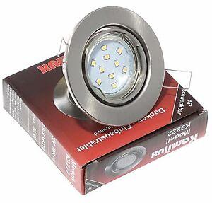 5-15er LED Einbaustrahler Tom Set 230V SMD 5W GU10 warmweiß kaltweiß schwenkbar