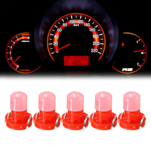 10pcs T3 Neo Wedge LED Instrument Cluster Dash Panel Climate Light Bulb Red
