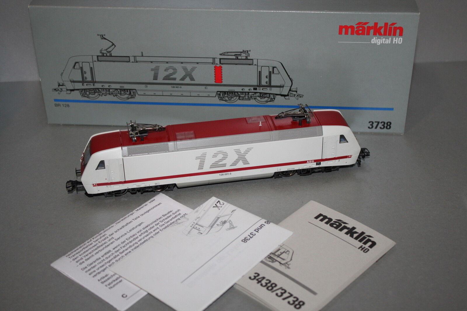 Märklin 3738 Digital elok serie siano 128 001-5 DB traccia h0 OVP