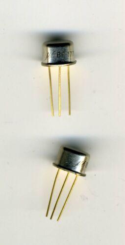 LOT DE 2 x TRANSISTORS VINTAGE NEUFS BF177 NPN VID 100V 0,04A 0,7W 120Mhz