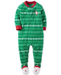 c7ef0c8e7 NWT ☀FOOTED FLEECE☀ CARTERS Boys Pajamas SANTA CHRISTMAS New 7  30 ...