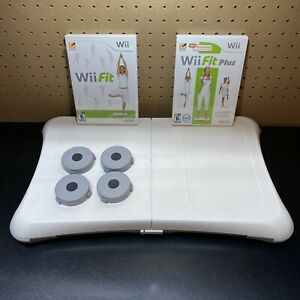 Wii Workout Bundle - Nintendo Wii Fit / Fit Plus with Balance Board  Clean/Works