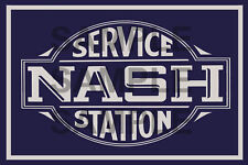 NASH SERVICE GAS STATION GARAGE BUILDING DIORAMA  SIGN DECAL 3X2  MORE SIZES AVA