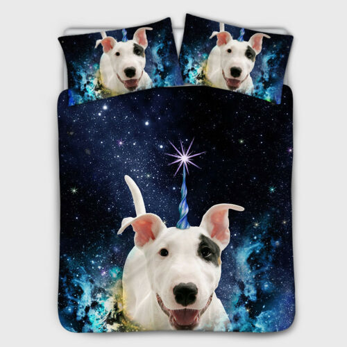 Galaxy Animals Bedspread Sheet Quilt Cover Bedding Set Coverlet for Womens Mens