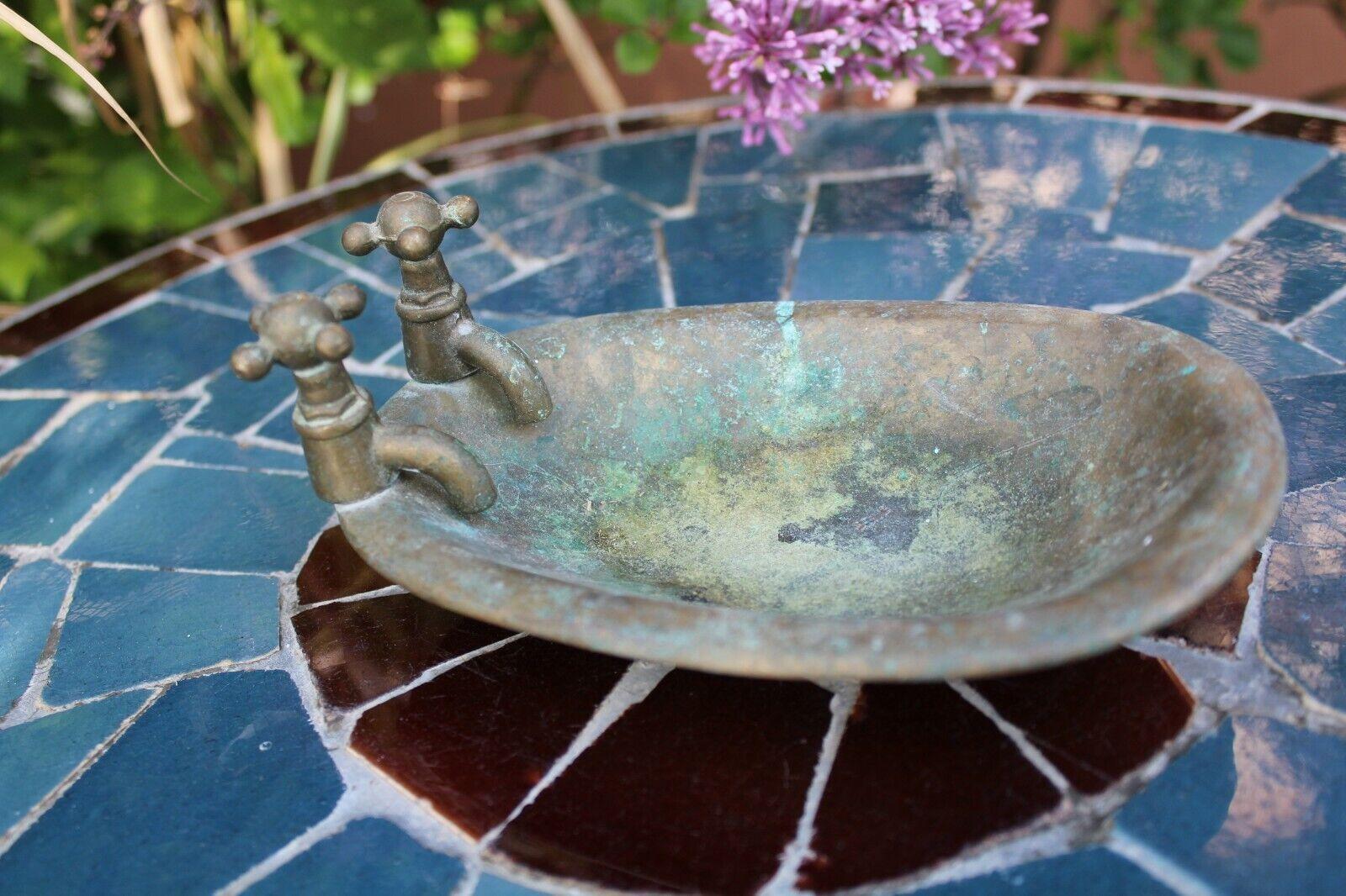 Miniature Dollhouse Dolls House Furniture - Old Brass Bath Tub