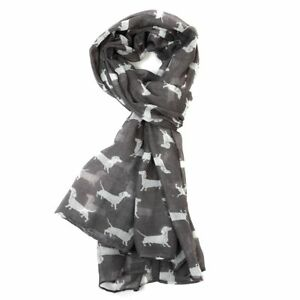 Dachshund-Sausage-Dog-White-Silver-Grey-Green-Blue-Scarf-Dogs-Scarves-LilyRosa