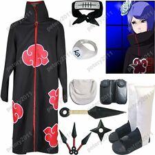 Naruto Akatsuki cloak Konan Cosplay Costume