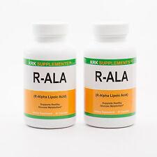 2 Bottles R-ALA Lipoic Acid 200mg Antioxidant R-ALPHA RALA 180 Capsules