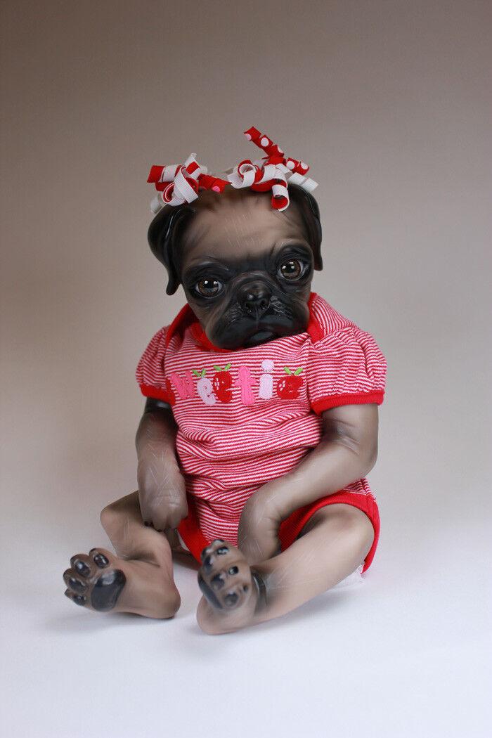 Reborn Pug Cachorro Perro adorable seguro para viajes internacionales