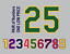 thumbnail 4 - Tackle Twill Pro Cut Baseball Number Pair Team Uniform Jersey Patches Not Sewn