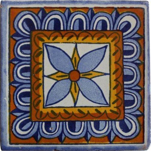 4.2x4.2 9 pcs Orizaba Talavera Mexican Tile