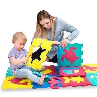 Baby Playmats 12 Foam Floor Tiles Ocean Jigsaw 100% Original Practical Foam Play Mat For Babies And Toddlers