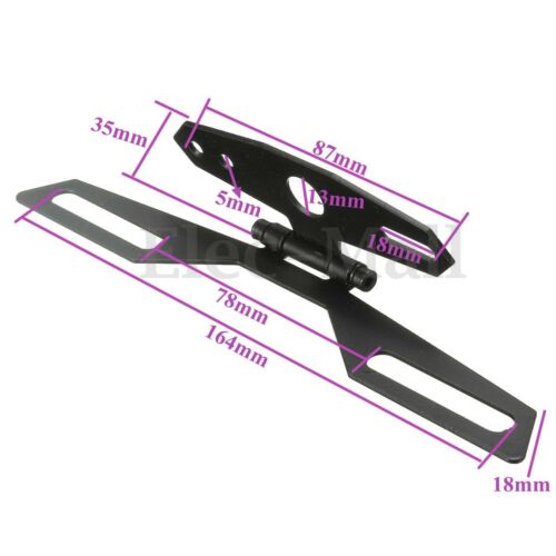 Motorcycle Adjustable Folding License Plate Holder Tail Rear Light Bracket