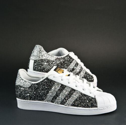 E Adidas Antracite Superstar Glitter Con Grigio Argento Scarpe nFdRYwqw