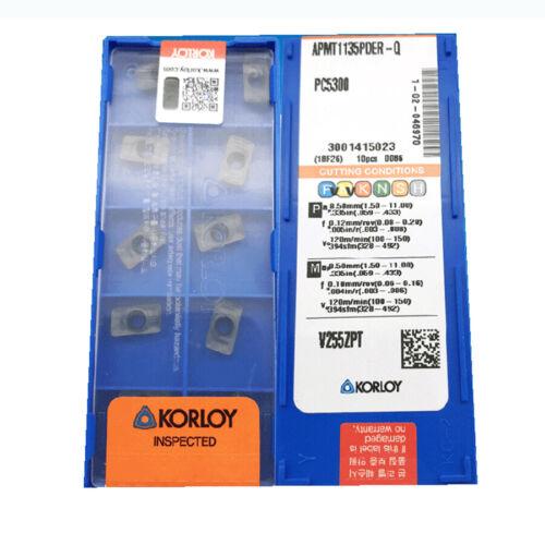 KORLOY  APMT1135PDER-Q PC5300 Carbide Inserts CNC TOOL.