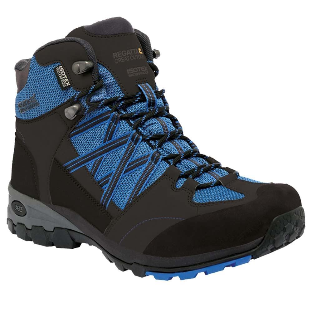 Regatta schuhe Walking Stiefel Mens Samaris Outdoor Trainer Waterproof Hiking Blau