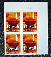 2016USA #5142 Forever - Diwali - Plate Block of 4  Mint christmas holiday candle