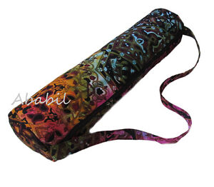 New Indian Handmade Tie Dye Larg Yoga Mat Carry Bag With Shoulder Strap Throw **