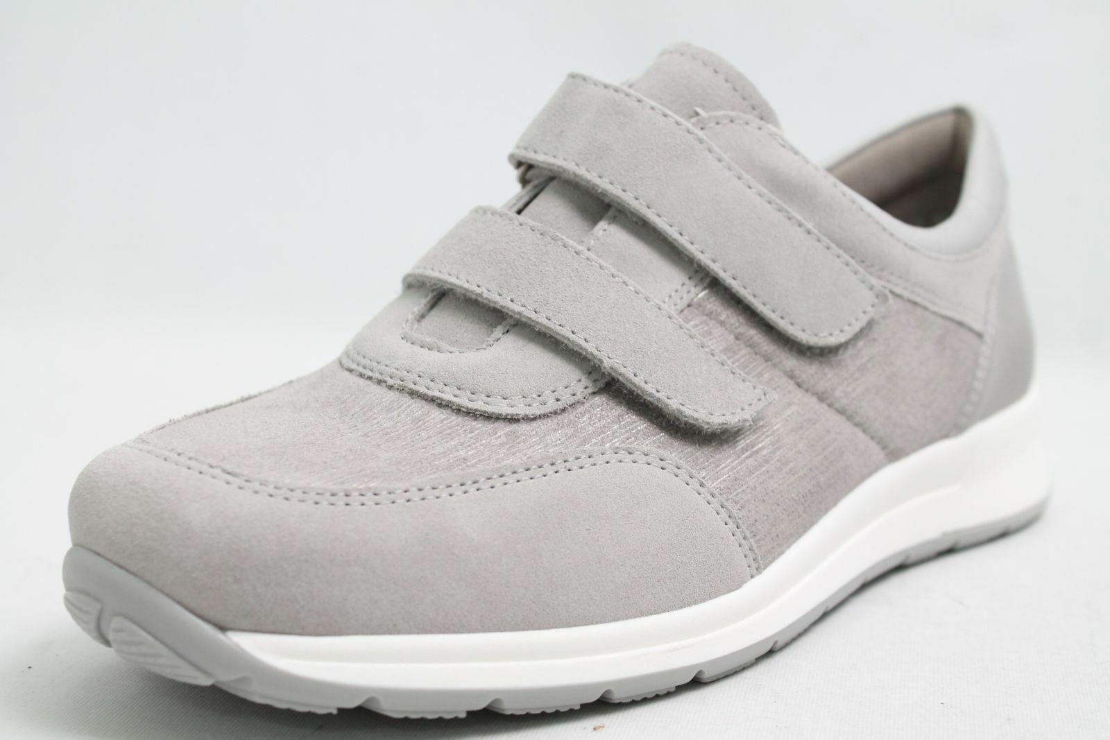Ara Schuhe grau Nubuk Leder Klettverschluss Schuhweite K Damen