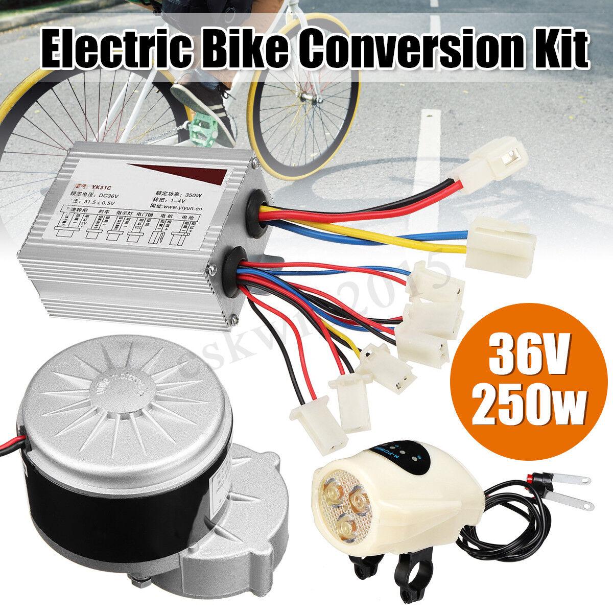 36V 250W Elettrica Conversione Kit Motore Controllore Per 22-28'' Bici
