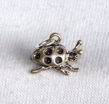 VINTAGE Sterling Silver 3D CHINESE BEATLE BUG INSECT Charm by BELL New Old Stock