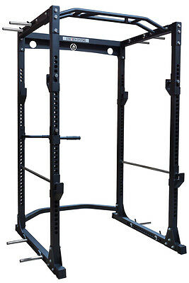 Strength Shop Thor Power Cage - Black - with Chin Bar, Dip Handles and Band Pegs