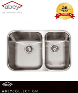 ABEY NUQUEEN THE BRISBANE UNDERMOUNT DOUBLE BOWL KITCHEN SINK Q180U ...