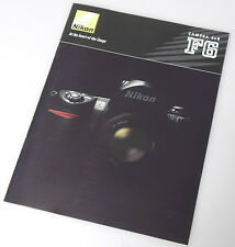 (PRL) CATALOGO NIKON F6 CAMERA SLR ITALIANO DEPLIANT BROCHURE SPECIFICHE TEC