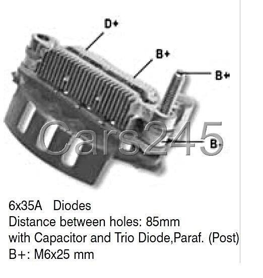 Alternator Diode Bridge Rectifier FORD THUNDERBIRD Diodes x6 35A
