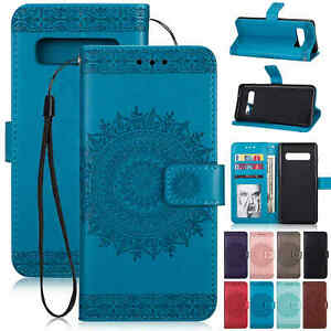 For Samsung Galaxy S10 S10 Plus Leather Wallet Card Slots Flip Stand Case Cover Ebay
