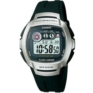 Casio-W-210-1AV-Silver-Black-Sports-Digital-Watch-W210-1AV-with-Box-Included