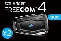 Cardo Scala Rider Freecom 4 Duo Motorcycle Helmet Bluetooth Communication System