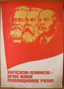 Soviet Russian Original POSTER Marxism-Leninism - eternally alive revolutionary