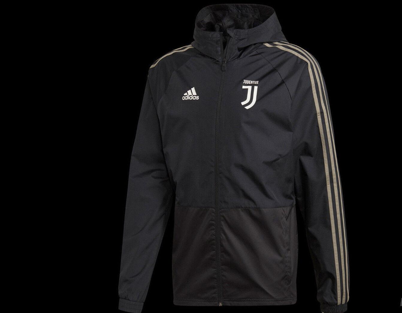 Kway Adidas Juventus Juve Herren mit Kapuze für regen schwarz Beige CW8726