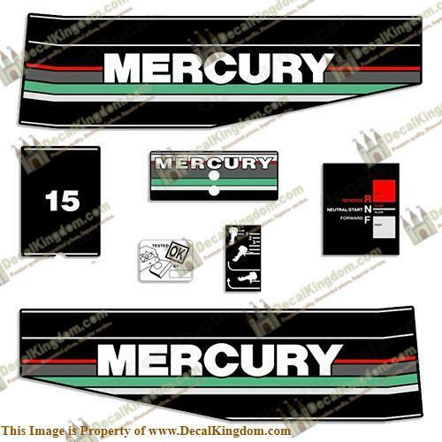 Mercury 1991 -  1992 Outboard Decal Kit (Multiple Sizes Available)  timeless classic