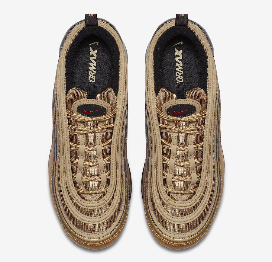 Nike air größe vapormax 97 größe air 7,5.metallisches gold uni rot - schwarz - weiße aj7291-700 323fa8