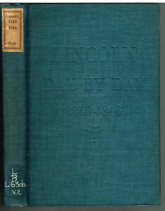 Lincoln-1840-1846-by-Harry-Pratt-1939-1st-Ed-Vintage-Book