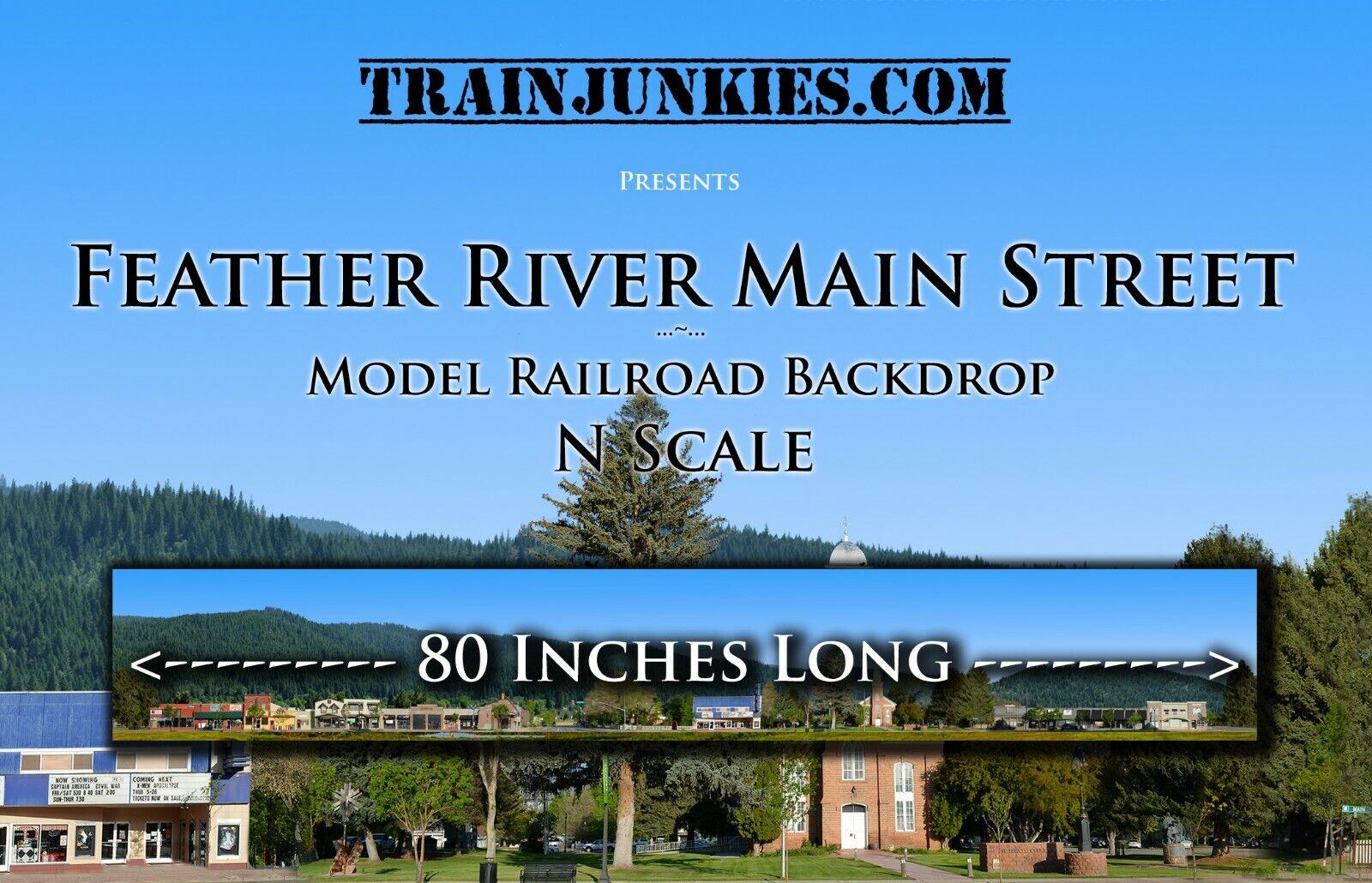 Train Junkies N Scale Central Vtuttiey Field modellolo Railstrada Backdrop 12x80