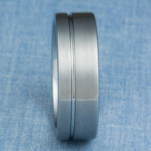 Tungsten Carbide Ring Mens Wedding Band Size 8.5