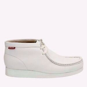 white clarks wallabees