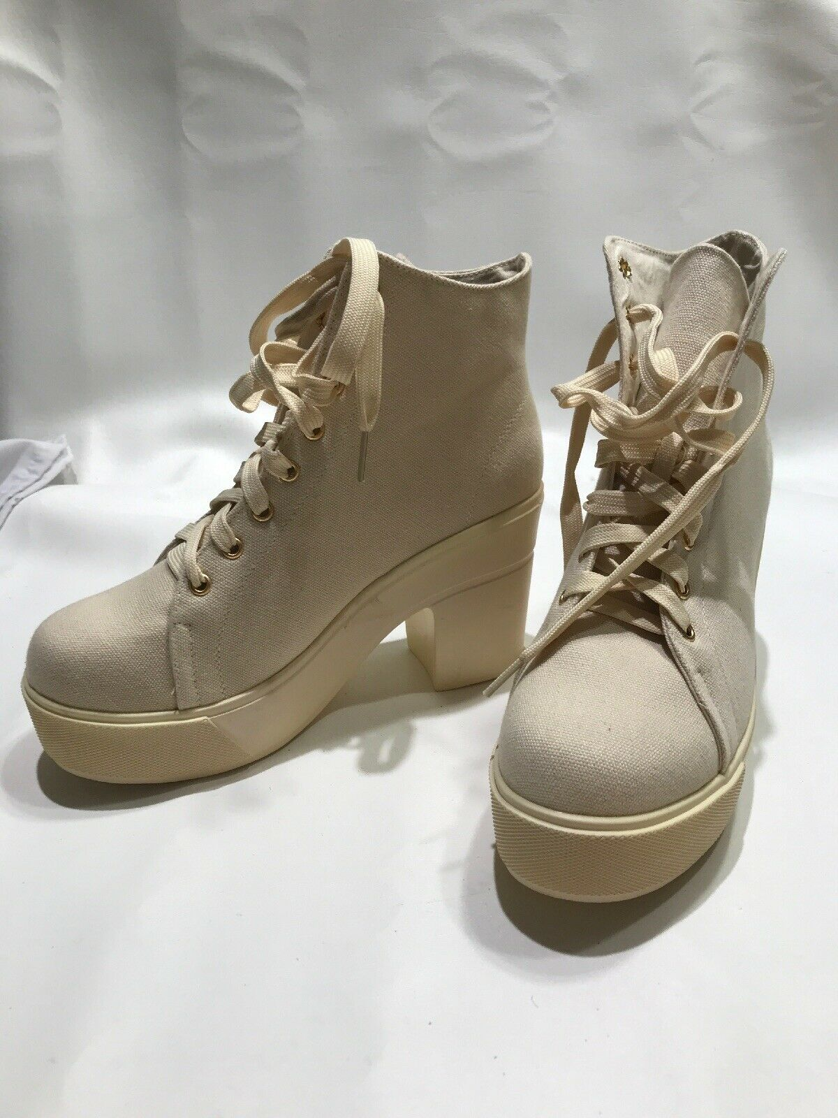 Dirty Laundry Platform High Top zapatillas campus Queen 39 8.5 Beige Lona 40 9.5