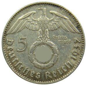 (f90) - Germany Drittes Reich - 5 Reichsmark 1937-1939 - Reichsadler - Km# 94