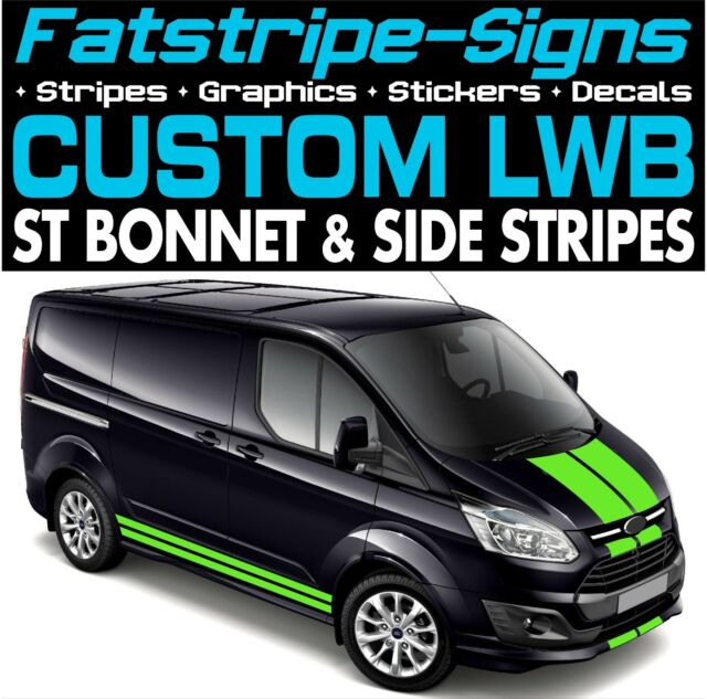 Ford transit custom lwb stripes graphics stickers decals st m sport day van 2 2