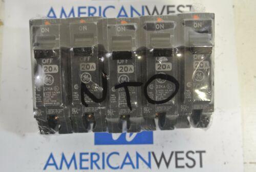 THHQB1120 1 pole 20 amp 22kA 120v bolt on THHQB circuit breaker NEW TAKE OUT