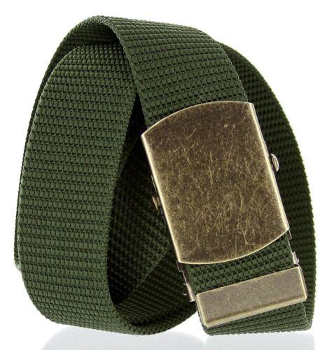 "Hagora Men Sturdy Durable 1.5/"" Wide Nylon Web Antique Slide Metal Buckle Belt"