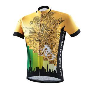 Gold Challenger Men s Biking Cycling Jerseys Full Zip Bike Bicycle ... 4897a47dd