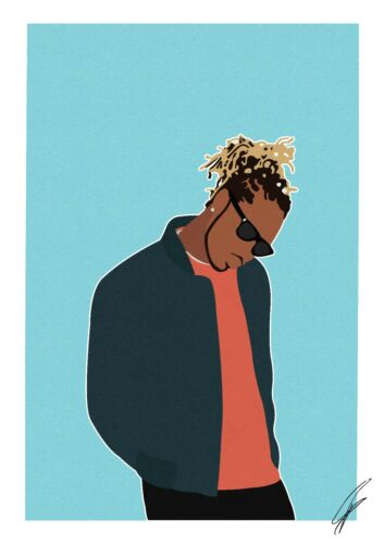 rapper INSPIRED WALL ART Print Future Poster A4 A3 hip hop RAP jumpman